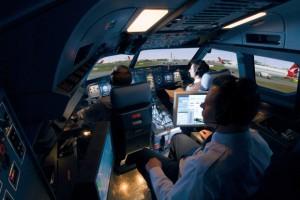 Top Stock Picks - CAE simulator of a plane cockpit