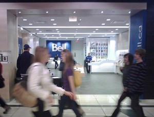 Bell Canada wireless subscriber numbers. Average revenue rose 2.1%.