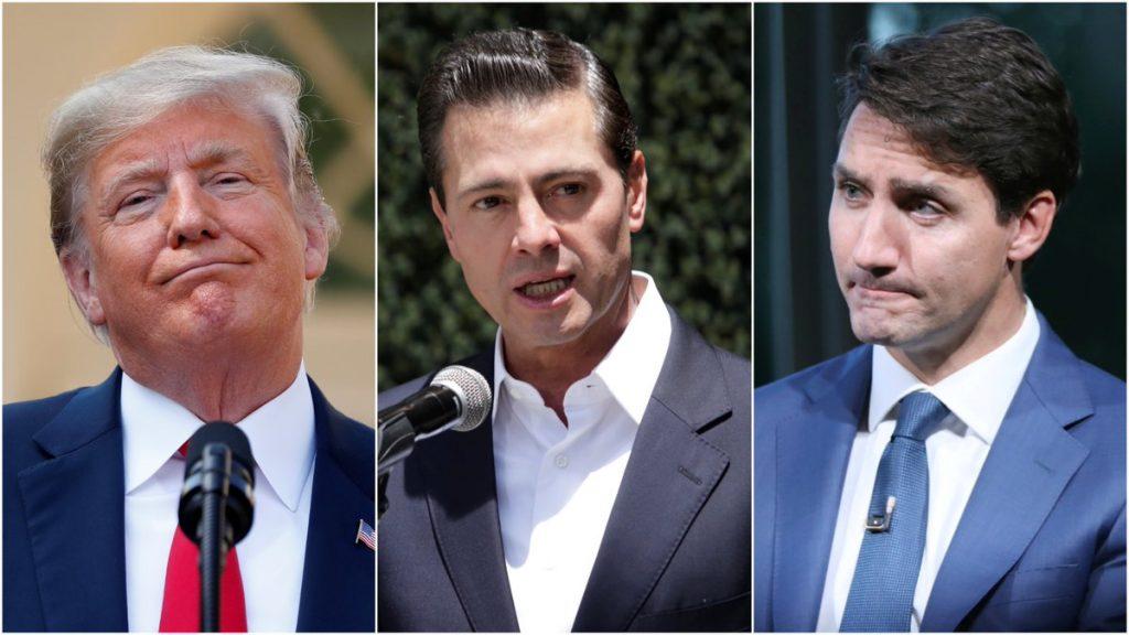 USMCA NAFTA Donald Trump, Enrique Pena Nieto, Justin Trudeau