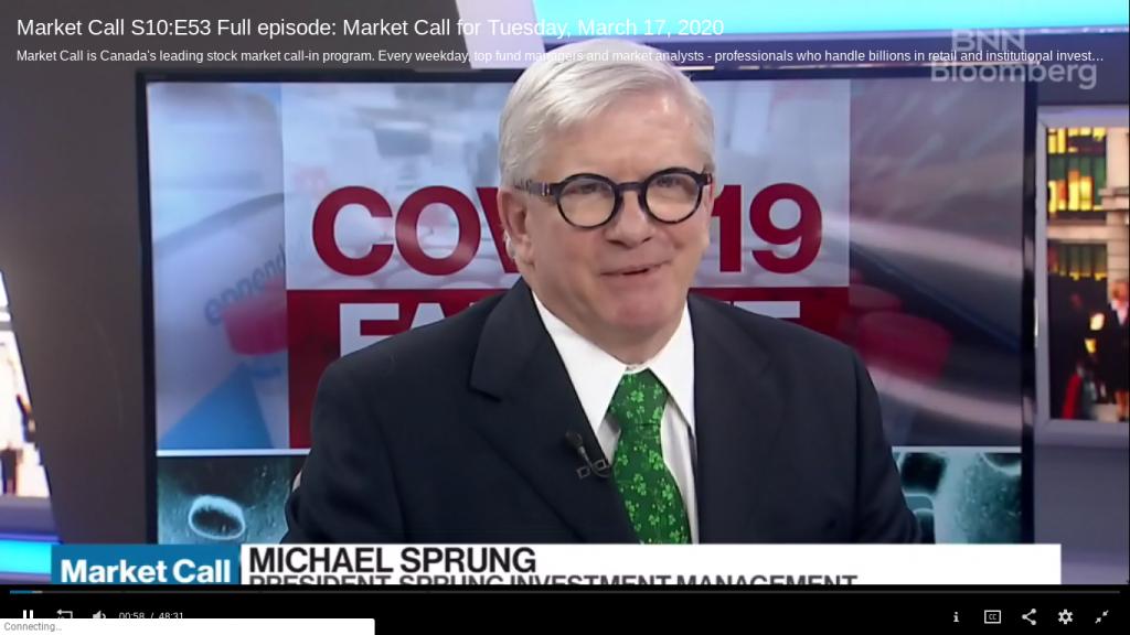 michael sprung bnn bloomberg market call